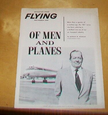 Of Men And Planes. Douglas Dc3 Series Of Aircraft. Flying Magazine Reprint 1959
