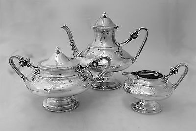 Gorham for Tiffany and Co. Sterling Silver Tea Set 1868