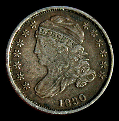 1830 Capped Bust Dime XF Detail Nice Coin