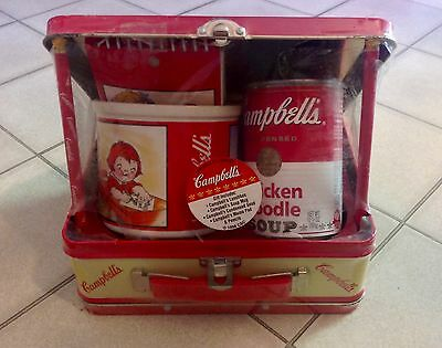 Collectible CAMPBELLS Kids Lunchbox Gift Set w/ Mug Pad Pencils Can Soup Vintage