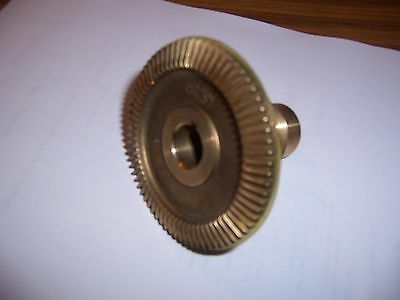 "BEVEL BRONZE GEAR W/ SEAL for SERVO POWER FEEDS On EX-CELL-O Mills ""NEW"""