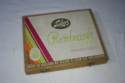 36 REMBRANDT SOFT PASTELS by Talens & Zoon of Holland in Wooden Presentation Box