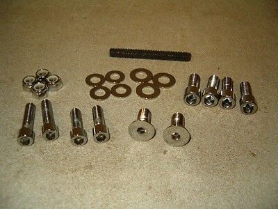 Wholesale Lot of 10 Chrome Mounting Hardware Kit for Forward Controls-NEW!