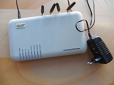 4 Channel GSM VoIP GoIP4 Gateway SIP Protocol free call, SMS, Asterisk