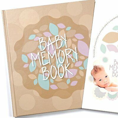 Baby Memory Book And Keepsake For Babys First Year - A Scrapbook / Photo Album /