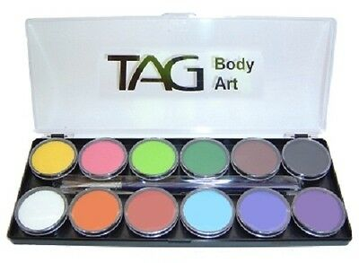 TAG Professional Body Art & Face Paint - Regular Palette Kit 12 x 10g