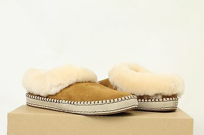 NEW Womens UGG Australia WRIN Chestnut CHE 9 Shoes Slippers Moccasins Fur AUTHTC