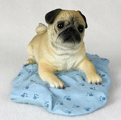 PUG (FAWN)  MY DOG  Figurine Statue Pet Lovers Gift Resin Hand Painted Figure