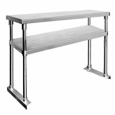 Overshelf for Benches, Double Tier, Stainless Steel, 1800x300x750mm, Commercial
