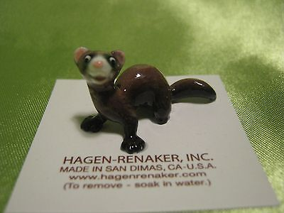 Hagen Renaker Ferret Lying Figurine Miniature 03319 FREE SHIPPING NEW