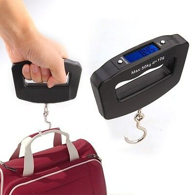 Pocket 50kg/10g LCD Digital Fish Hanging Luggage Baggage Weight Hook Scale