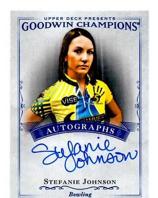 2016 Upper Deck Goodwin Champions Autograph Card #A-SJ Stefanie Johnson(NM)
