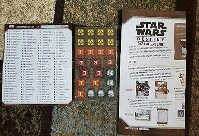 Star Wars Destiny Starter Tokens and Inserts