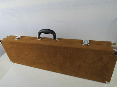 Beautiful Brown violin bow case for 24 bow holders.waterproof cloth