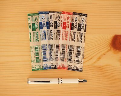 Zebra SL-F1 Mini Ballpoint Pen with 5pcs Oil-Based Ink Refills (4C-0.7 & 4C-1.0)