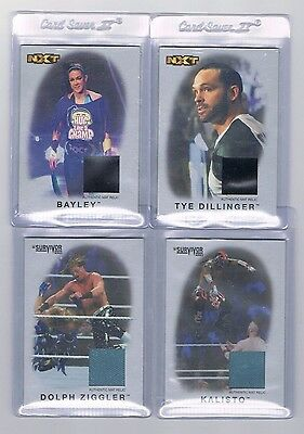 2016 TOPPS Heritage WWE NXT Silver Mat Relics- Bayley, Kalisto, Dolph Ziggler 50