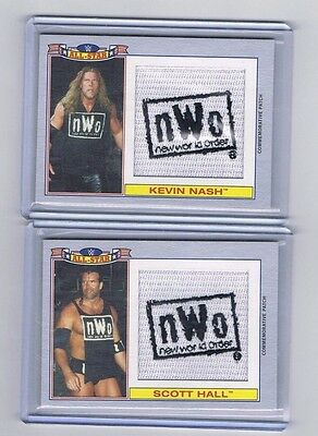 2016 TOPPS WWE HERITAGE Silver Patch NWO Scott Hall & Kevin Nash /50