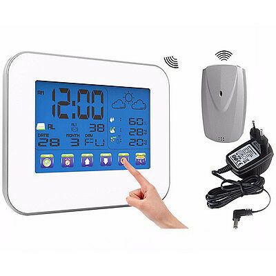 Wireless Color Display Weather Station Thermometer Temp Humidity Indoor/Outdoor