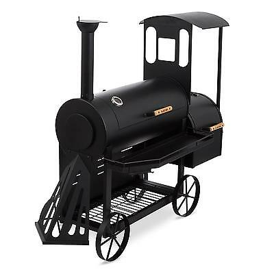 Black Xxl Charcoal Grill Shop Party Outdoor Garden Bbq Meat Smoker Food Wood Big