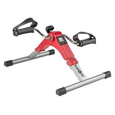 Arm Foot Mini Bike Trainer Cardio Pedals Fitness Machine Display Home Gym Red
