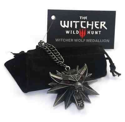 The Witcher 3 Wild Hunt Me­dail­lon Medallion Kette Anhänger Halskette Pendant