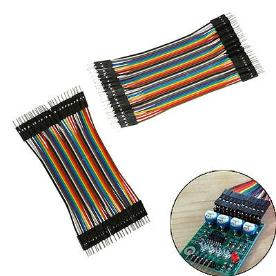 AU 40pcs/Row Male To Male 2.54mm Jumper Jump Wire Cable for Arduino Breadboard