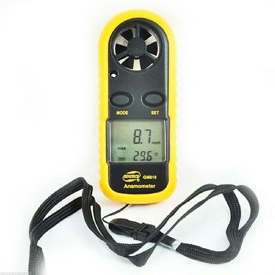 New Portable Lcd Digital Anemometer Thermometer Air Wind Speed Meter Tester