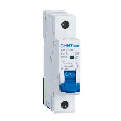 CHINT SINGLE POLE MCB (1-63A with B, C or D curves