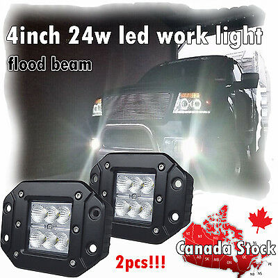 2x 4inch Cube Led Light Bar Flood Beam Work Lamp Offroad Driving Truck Pods 4""
