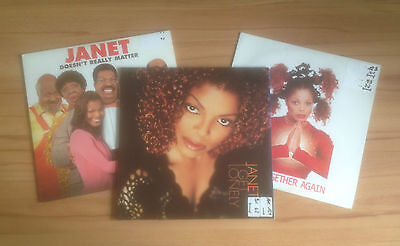 3 x Janet Jackson - Doesn't Really Matter / I Get Lonely / Together Again