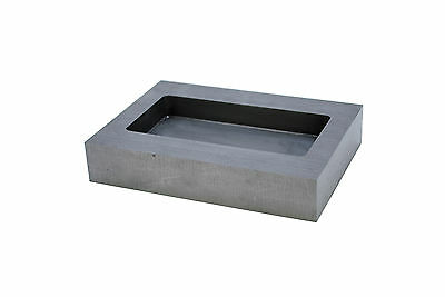 100oz Rectangular Graphite Crucible Ingot Mould Bar Melting Casting Metal J1487