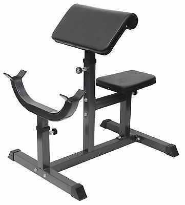 Preacher Curl Bench Tricep Bicep Fully Adjustable Weight Training Bench