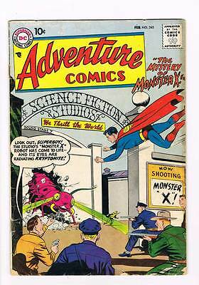 Adventure Comics # 245 Mystery of Monster X ! grade 3.0 scarce book !!