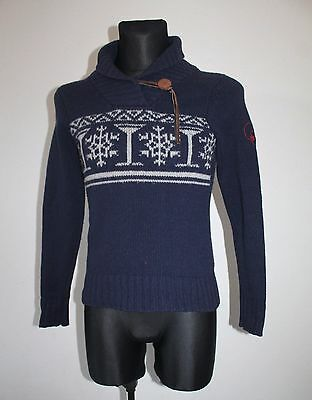 VTG Womens Sweater MOODS OF NORWAY 95% Wool 5% Cashmere Fairisle Cardigan XS