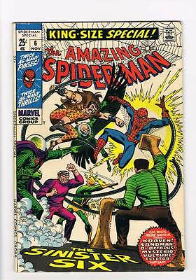 Amazing Spider-Man Annual # 6  The  Sinister Six ! grade 6.0 scarce book !!