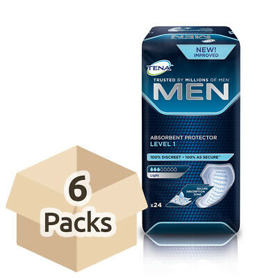 TENA Men Absorbent Protector - Level 1 - Case Saver - 6 Packs of 24