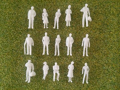 1:100 Scale Architecture Model White Unpainted Figures People - 25/50/100