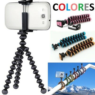 Mini Tripode Flexible Universal Para Camara Smartphone Movil Iphone Samsung Sony