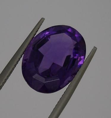 ***Beautiful Natural 8.6ct Amethyst Faceted Oval Cut Gemstone***