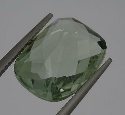 ***Beautiful Natural 9.3ct Green Amethyst Fancy Faceted Emerald Cut Gemstone***