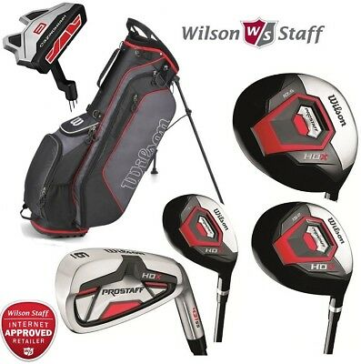 Wilson Profile XD Mens Complete Steel Golf Package Set Deluxe Stand Bag New 2017