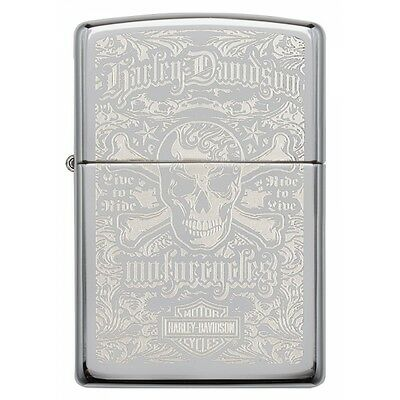 Zippo Harley Davidson High Polished Chrome Windproof Lighter Brand New