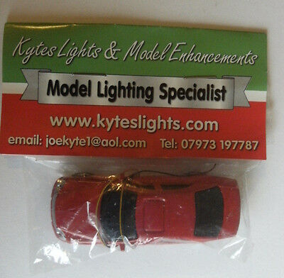 Model Trail Railway Accessories Kytes Lights 12v LED Model Car For Layouts Red