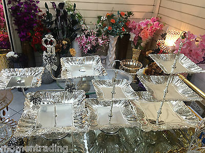 Cake Serving Stand 2/3 Tiers Stainless Steel Polished Glossy Elegant Design