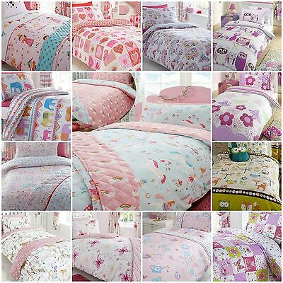 Children's Kids Girls Duvet Quilt Cover Bedding Sets OR Matching Curtains