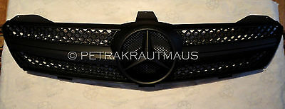 Mercedes Benz CLS Front Grille W219 Model 2004 to 2008 Full Matt Black