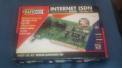 Scheda Isdn Card Modem Interno Pci 128Kbps Nuovo Boxed Scatola Vintage New Fax