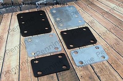 Adjustable Towbar tow bar Levelling Plate - 3 Sizes + 2 finishes available
