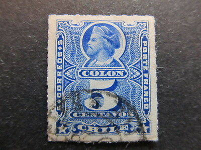 A3P24 Chile 1878-99 5c used #3