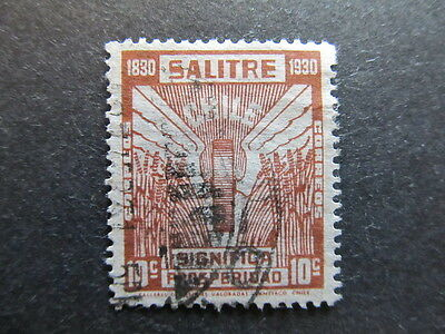 A3P25 Chile Salitre 1930 10c used #28